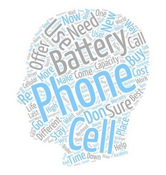 Cell phone batteries text background wordcloud vector