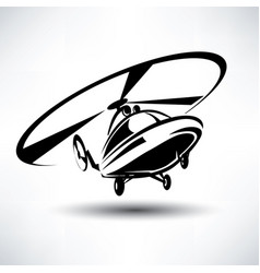Helicopter icon stylized symbol vector