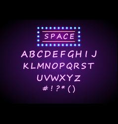 Set retro neon signs background vector