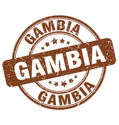 Gambia stamp vector