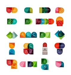 Collection of semicircle infographic templates vector