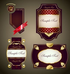 Royal labels set vector