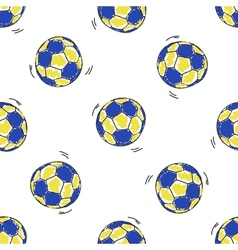 Seamless pattern with handball balls vector