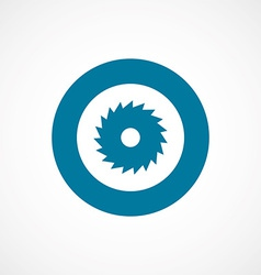 Industrial saw bold blue border circle icon vector