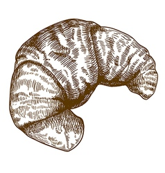 Engraving croissant vector
