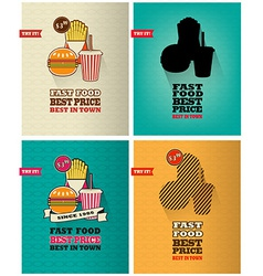 Junk food icons vector