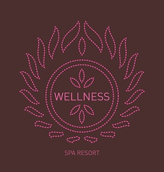 Floral logo template for wellness salon spa center vector