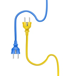 Electric cable plugs vector