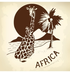 African Landscape and animals vector image vector image