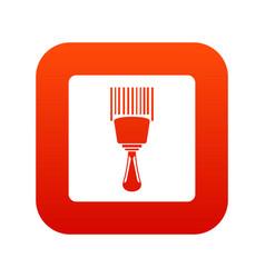 bar code scanner icon digital red vector image