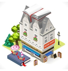 Book Shop City Building 3D Isometric vector image