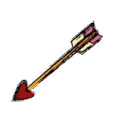 bow arrow symbol vector image