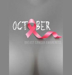 breast cancer awareness vector image vector image