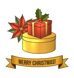 Christmas gift box icon vector image