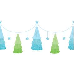 Christmas tree blue green layered vector