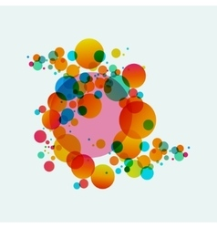 Colorful abstract background beautiful circles vector image