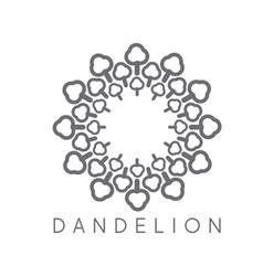 Concept cloud dandelion logo vector