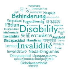 Disability word cloud vector