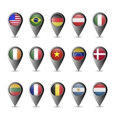 Flag markers vector image