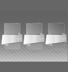 glass framework set vector image vector image