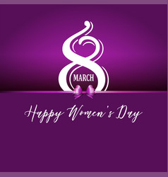 Happy womens day background vector