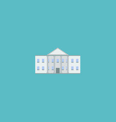 icon flat government building element vector image