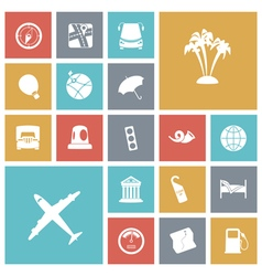 Icons tile travel vector