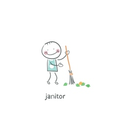Janitor vector