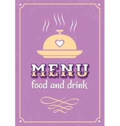 menu western style vector image