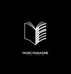 music magazine logo vector image vector image