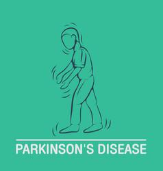 Parkinsons disease logo icon design template vector