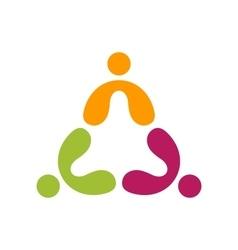 people teamwork logo education group symbol icon vector image vector image