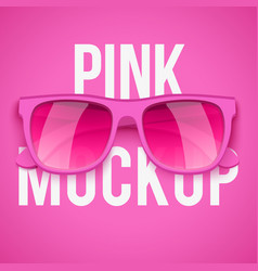 pink sunglasses on pink background vector image