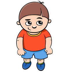 Preschool boy character vector