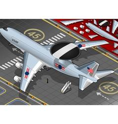 Radar Plane Landed in Rear View vector image vector image