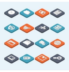 Shopping Icons Isometric vector image vector image