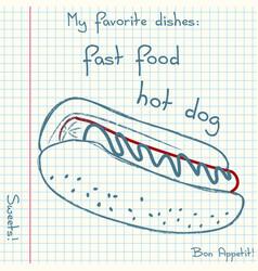 Sketch fast food vector