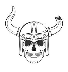 Skull viking vector