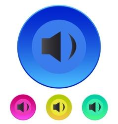 Speaker icon volume min vector