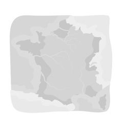 Territory of france icon in monochrome style vector