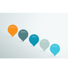 Timeline 3d Infographic 5 vector image vector image
