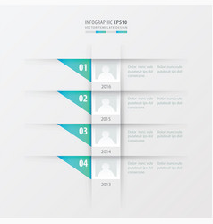Timeline design template blue gradient color vector