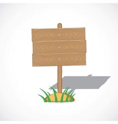 Wooden tablet vector