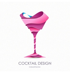 3d cocktail design vector
