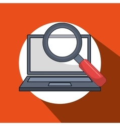 Laptop computer data icon vector