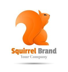 Squirrel colorful 3d volume logo design corporate vector