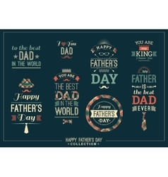 Happy father s day design collection in retro vector