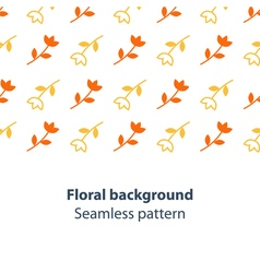 Orange and yellow flowers fancy backdrop pattern vector