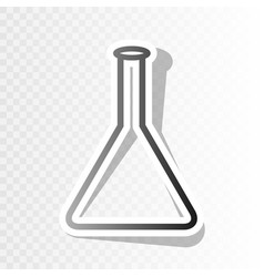 Conical flask sign  new year blackish icon vector