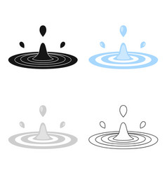 water drop icon of for web and vector image